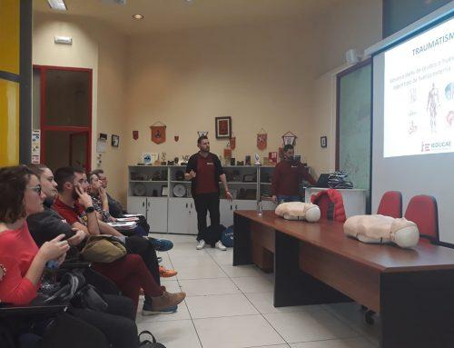 IEDUCAE forma como Primer Interviniente en Emergencias a los voluntarios de Protección Civil Gijón