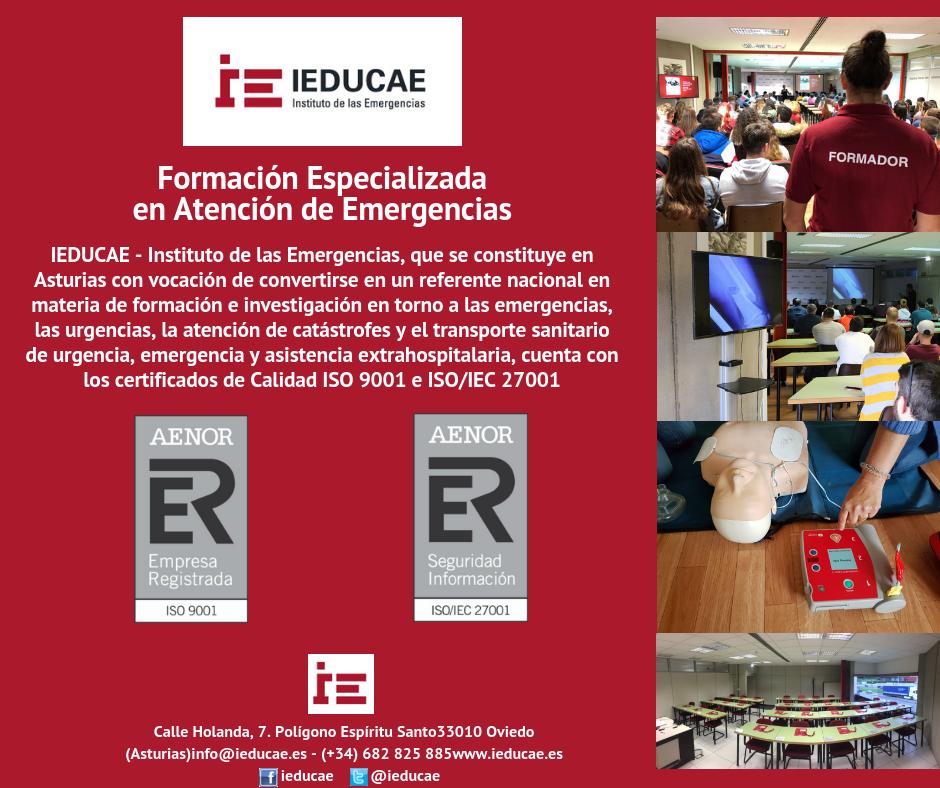 IEDUCAE dispone de los certificados de Calidad ISO 9001 e ISO/IEC 27001