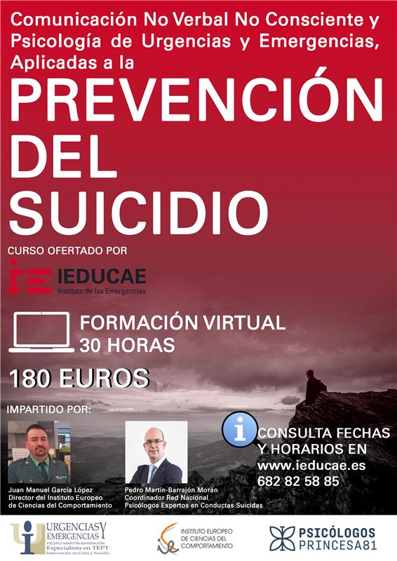 Nuevo curso de Prevención del Suicidio