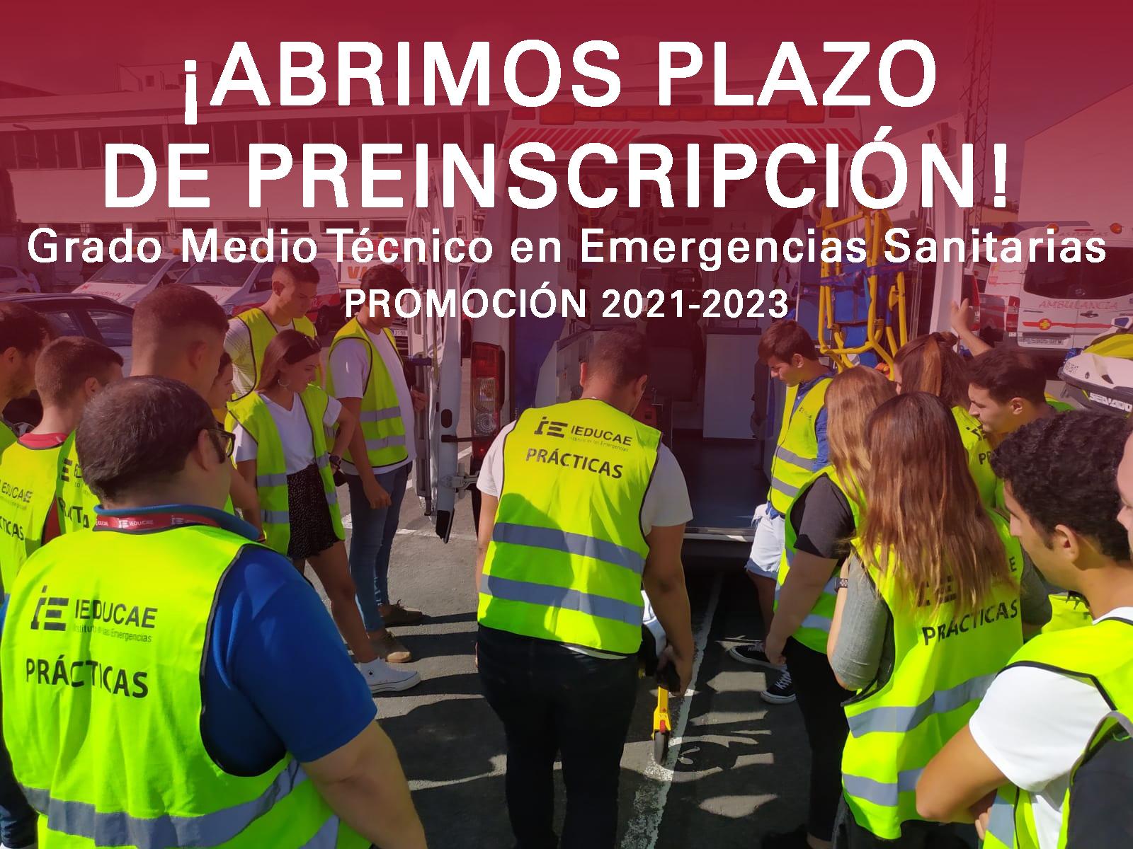 Inscripción FP Técnico en Emergencias Sanitarias 2021