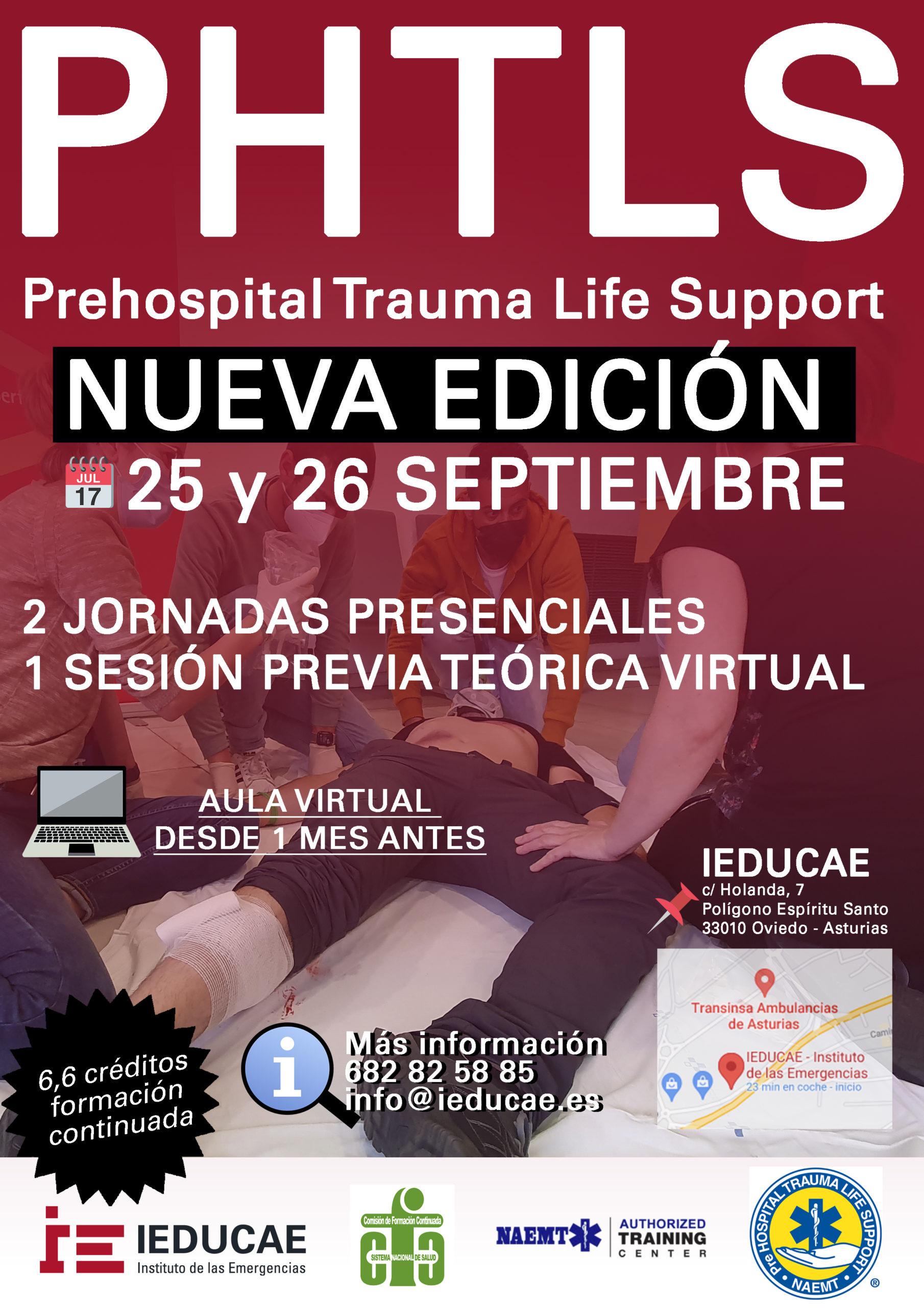Nuevo curso PHTLS en Septiembre
